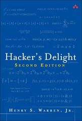 Hacker's Delight 2nd Edition 9780321842688 0321842685