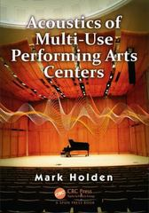 Acoustics of Multi-Use Performing Arts Centers 1st Edition 9780415517195 0415517192