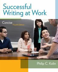 Successful Writing at Work 4th Edition 9781285052564 1285052560