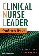 Clinical Nurse Leader Certification Review 1st Edition 9780826171177 0826171176