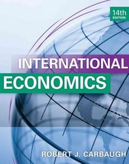 International Economics 14th Edition 9781133947721 1133947727