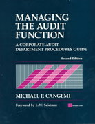 Managing the Audit Function 2nd edition 9780471383345 0471383341