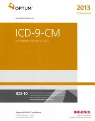 ICD-9-CM Professional for Hospitals, Volumes 1, 2 and 3 1st Edition 9781601516213 1601516215