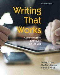 Writing That Works 11th Edition 9781457611131 1457611139
