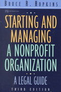 Starting and Managing a Nonprofit Organization 3rd edition 9780471397274 047139727X
