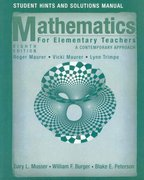 Student Hints and Solutions Manual to accompany Math for ElemTeachers: A Contemporary Approach Eighth Edition 8th edition 9780470105856 0470105852