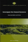 Sovereignty over Natural Resources 0 9780521562690 0521562694