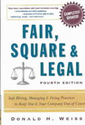 Fair, Square and Legal 4th Edition 9780814408131 0814408133