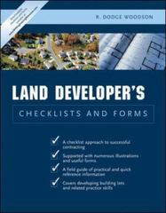 Residential Land Developer's Checklists and Forms 1st edition 9780071441735 0071441735