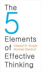 The 5 Elements of Effective Thinking 1st Edition 9780691156668 0691156662