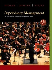 Supervisory Management 9th Edition 9781285063003 1285063007