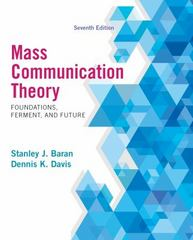 Mass Communication Theory 7th Edition 9781285052076 1285052072