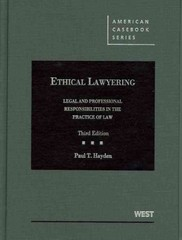 Ethical Lawyering 3rd edition 9780314911544 0314911545