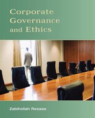 Corporate Governance and Ethics 1st Edition 9780471738008 047173800X