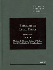 Problems in Legal Ethics 10th edition 9780314280497 0314280499