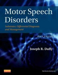 Motor Speech Disorders 3rd Edition 9780323072007 0323072003