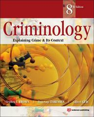Criminology 8th edition 9781455730100 1455730106