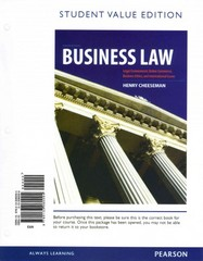 Business Law, Student Value Edition 8th edition 9780133080094 0133080099