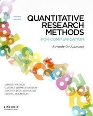 Quantitative Research Methods for Communication 2nd Edition 9780199931804 0199931801