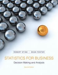 Statistics for Business 2nd Edition 9780321836519 0321836510