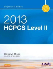 2013 HCPCS Level II Professional Edition 1st Edition 9781455745272 1455745278