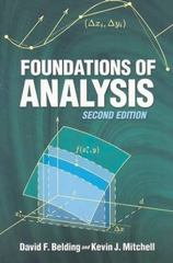 Foundations of Analysis 2nd Edition 9780486462967 048646296X