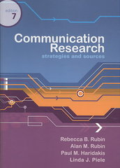 Communication Research 7th Edition 9781111780142 1111780145