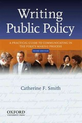 Writing Public Policy 3rd edition 9780199933921 0199933928
