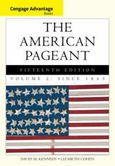 Cengage Advantage Books: The American Pageant 15th edition 9781285058665 1285058666