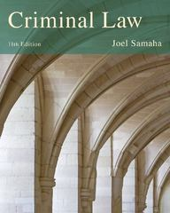 Criminal Law 11th Edition 9781285061917 1285061918
