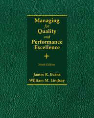 Managing for Quality and Performance Excellence 9th Edition 9781285633176 1285633172