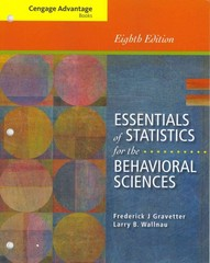 Cengage Advantage Books: Essentials of Statistics for the Behavioral Sciences 8th edition 9781285056340 1285056345