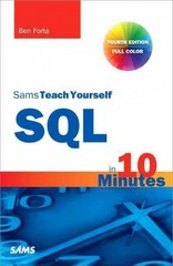 Sams Teach Yourself SQL in 10 Minutes 4th Edition 9780672336072 0672336073