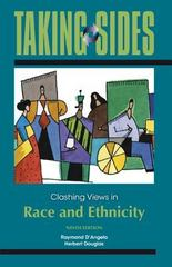 Taking Sides: Clashing Views in Race and Ethnicity 9th edition 9780078050473 0078050472