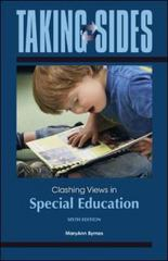 Taking Sides: Clashing Views in Special Education 6th Edition 9780078050480 0078050480