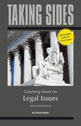 Taking Sides: Clashing Views on Legal Issues, Expanded 15th edition 9780078050497 0078050499
