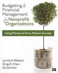 Budgeting and Financial Management for Nonprofit Organizations 1st edition 9781608716937 1608716937