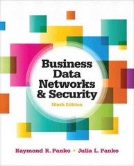 Business Data Networks and Security 9th Edition 9780133061307 0133061302