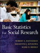 Basic Statistics for Social Research 1st Edition 9780470587980 0470587989