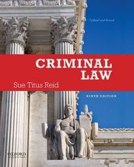 Criminal Law 9th edition 9780199899388 019989938X