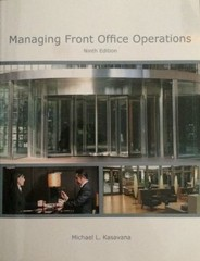Managing Front Office Operations 9th Edition 9780866124126 0866124128
