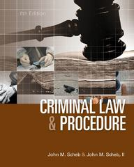 Criminal Law and Procedure 8th Edition 9781285070117 1285070119