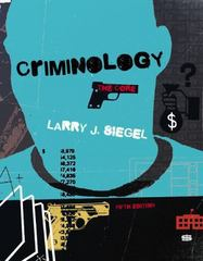Criminology 5th Edition 9781285068909 1285068904