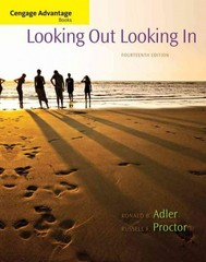Cengage Advantage Books: Looking Out, Looking In 14th Edition 9781285070568 1285070569