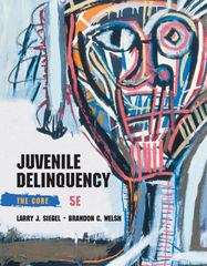 Juvenile Delinquency 5th Edition 9781285067605 1285067606