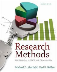 Research Methods for Criminal Justice and Criminology 7th Edition 9781285067841 1285067843