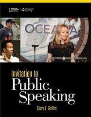 Invitation to Public Speaking - National Geographic Edition 5th Edition 9781305142701 1305142705