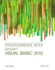 Programming with Microsoft Visual Basic 2012 6th Edition 9781285077925 128507792X