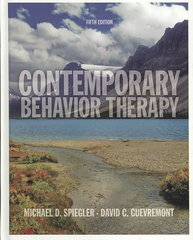 Contemporary Behavior Therapy 5th Edition 9780495509066 049550906X