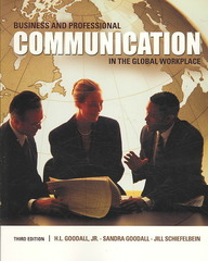 Business and Professional Communication in the Global Workplace 3rd Edition 9780495567387 0495567388